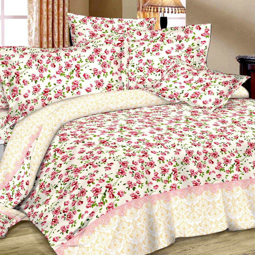 """Комплект постельного белья 1,5 спальный, сатин, """"Летто"""""""