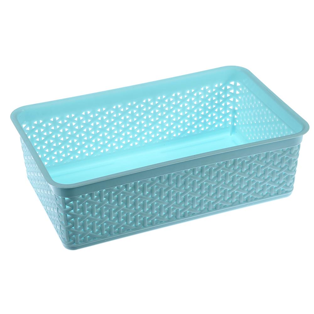 Корзинка универсальная, пластик, 25,7х15,8х8 см, 2 цвета, Natural Style