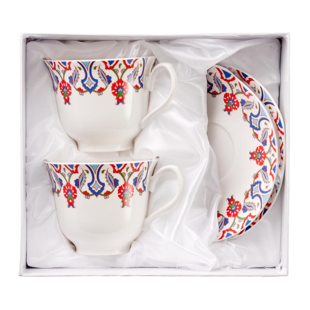 MILLIMI Фаина Набор чайный 4 пр., 240мл, костяной фарфор