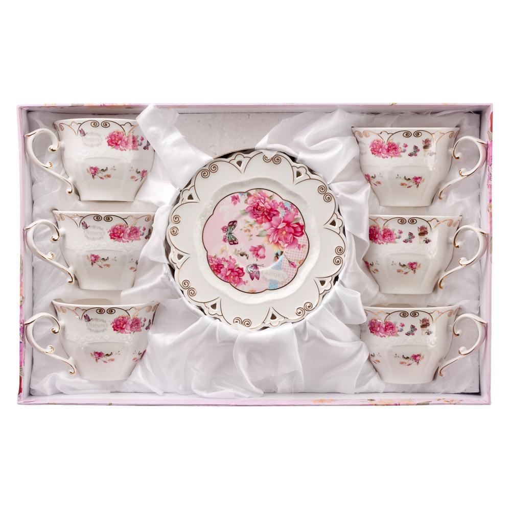 MILLIMI Виола Набор чайный 12 пр., 200мл, костяной фарфор
