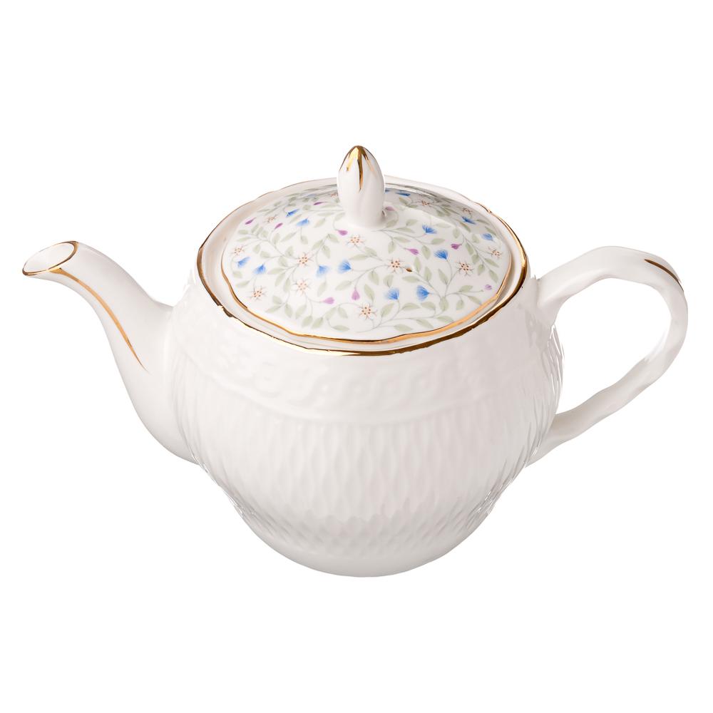 "Чайник, костяной фарфор, 900 мл, MILLIMI ""Болеро"""