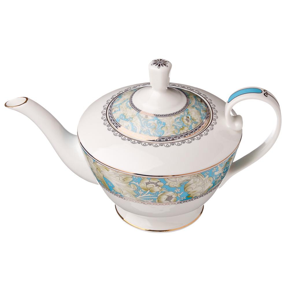 "Чайник, костяной фарфор, 1250 мл, MILLIMI ""Элегия"""