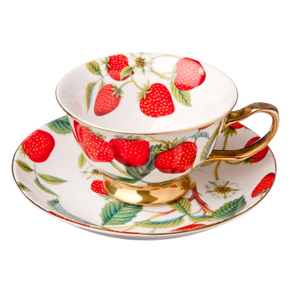 MILLIMI Земляничный пунш Набор чайный 4 пр., 200мл, костяной фарфор