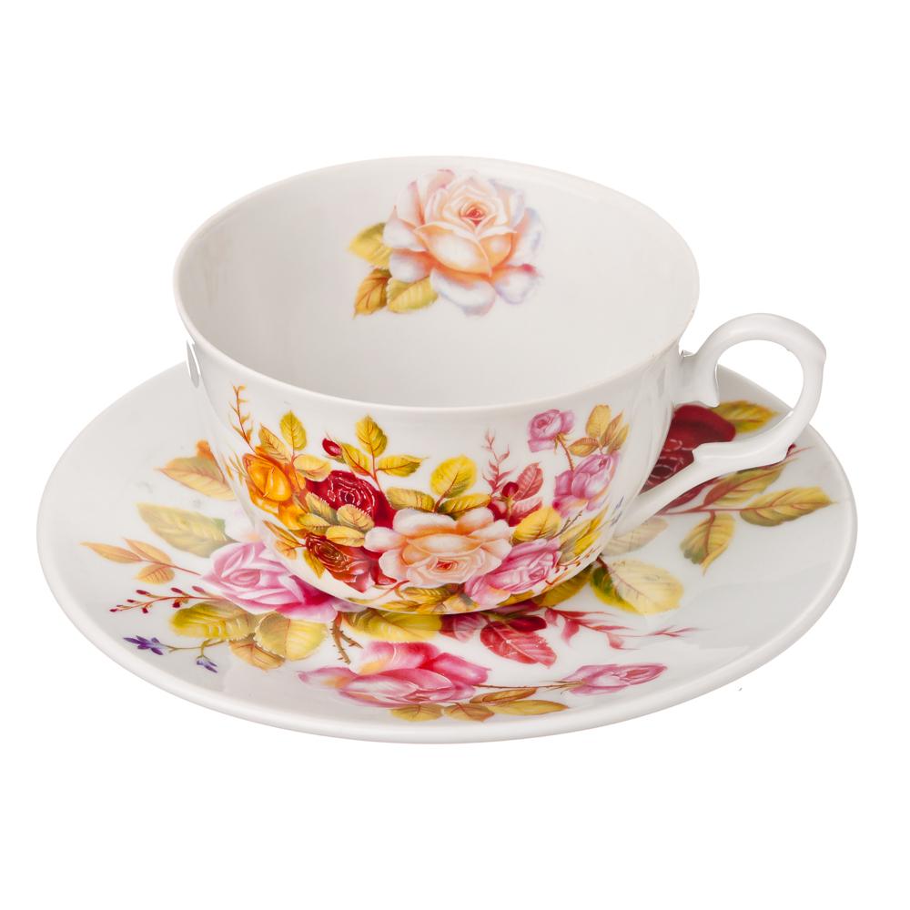 """Чайный сервиз 2 предмета, фарфор, 250 мл, MILLIMI """"Гармония"""""""