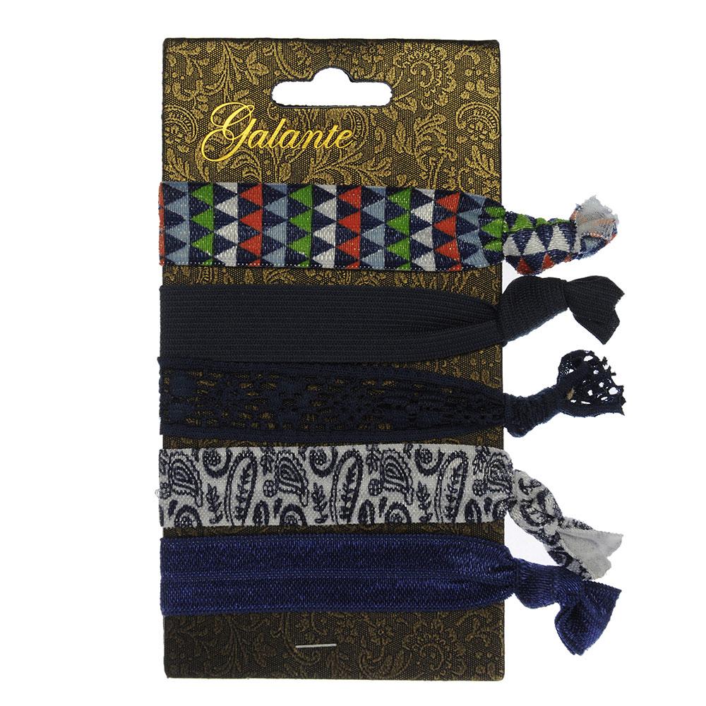 Набор резинок для волос, 5шт., полиэстер, 9,5 см, 4 дизайна, #9