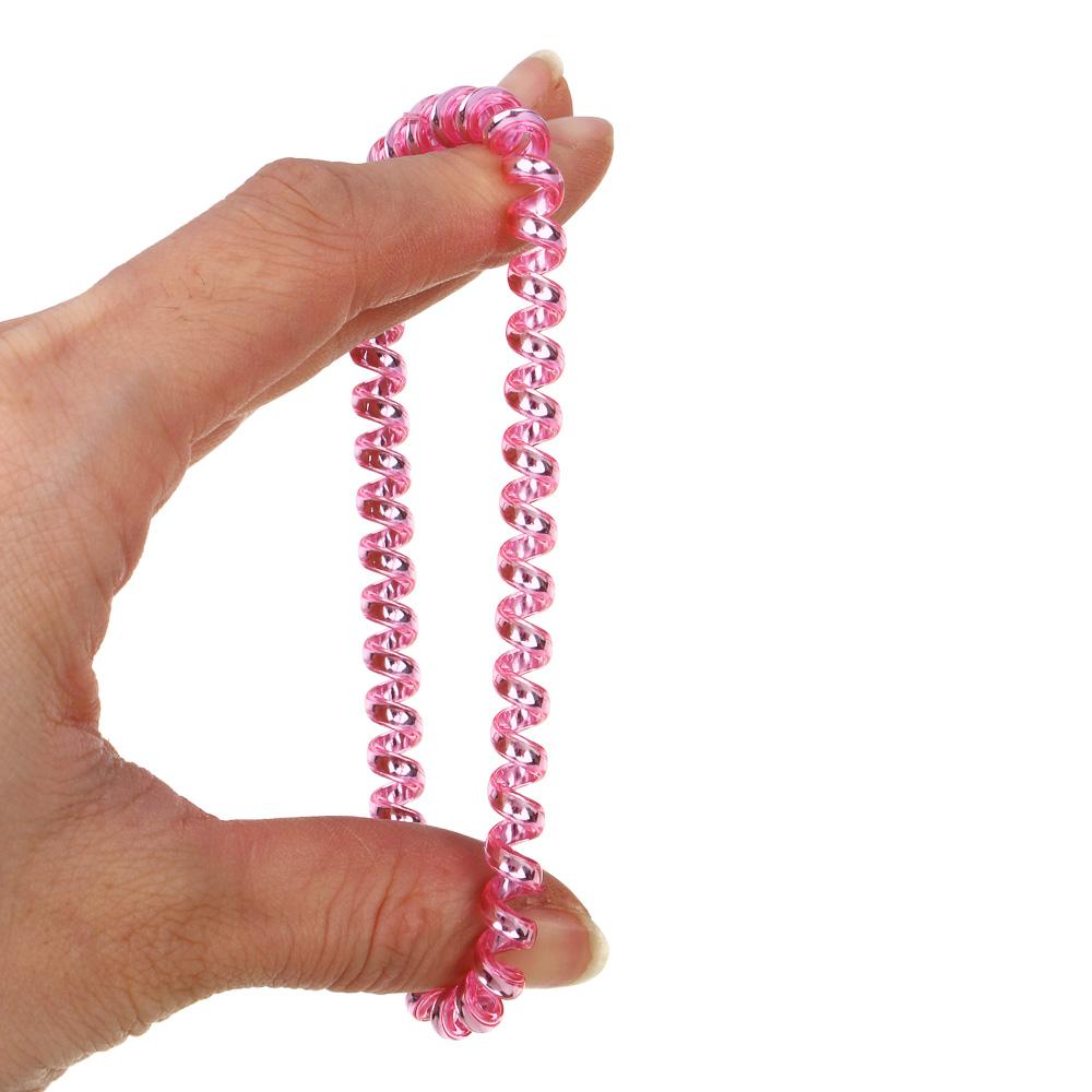 Набор резинок-спиралек для волос, 6шт., пластик, 5,5 см, 6 цветов, #17