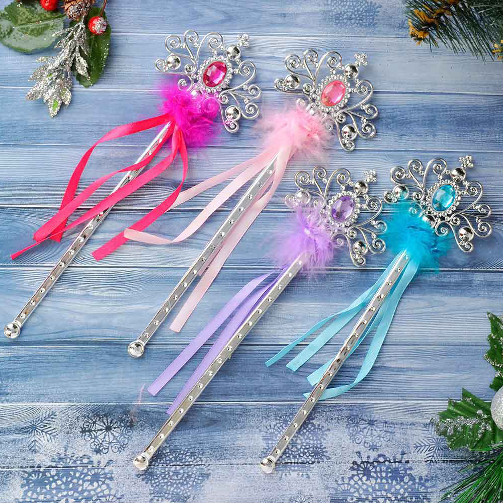 Волшебная палочка, пластик, полиэстер, 32 см, 4 цвета, СНОУ БУМ