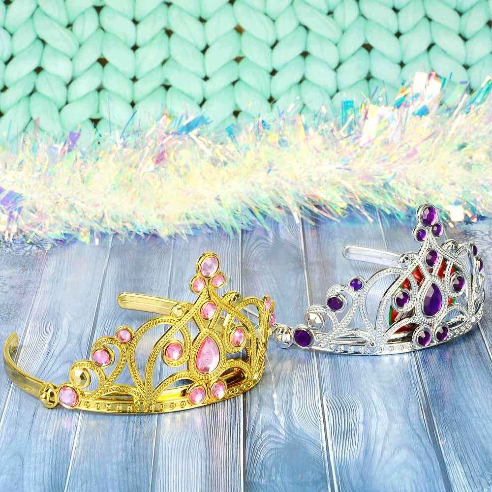 Диадема карнавальная, пластик, 12 см, 4 дизайна, СНОУ БУМ