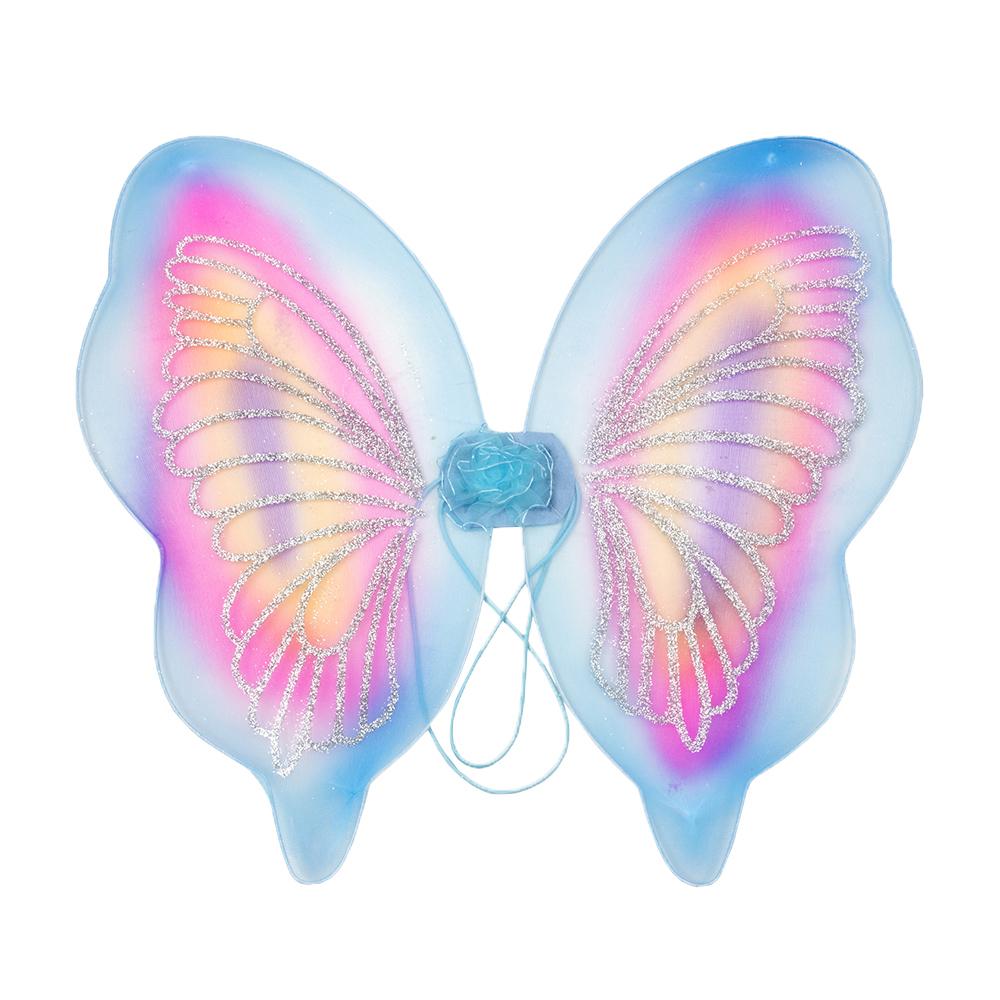 Костюм карнавальный крылья бабочки, полиэстер, 42х44 см, 4 дизайна, СНОУ БУМ