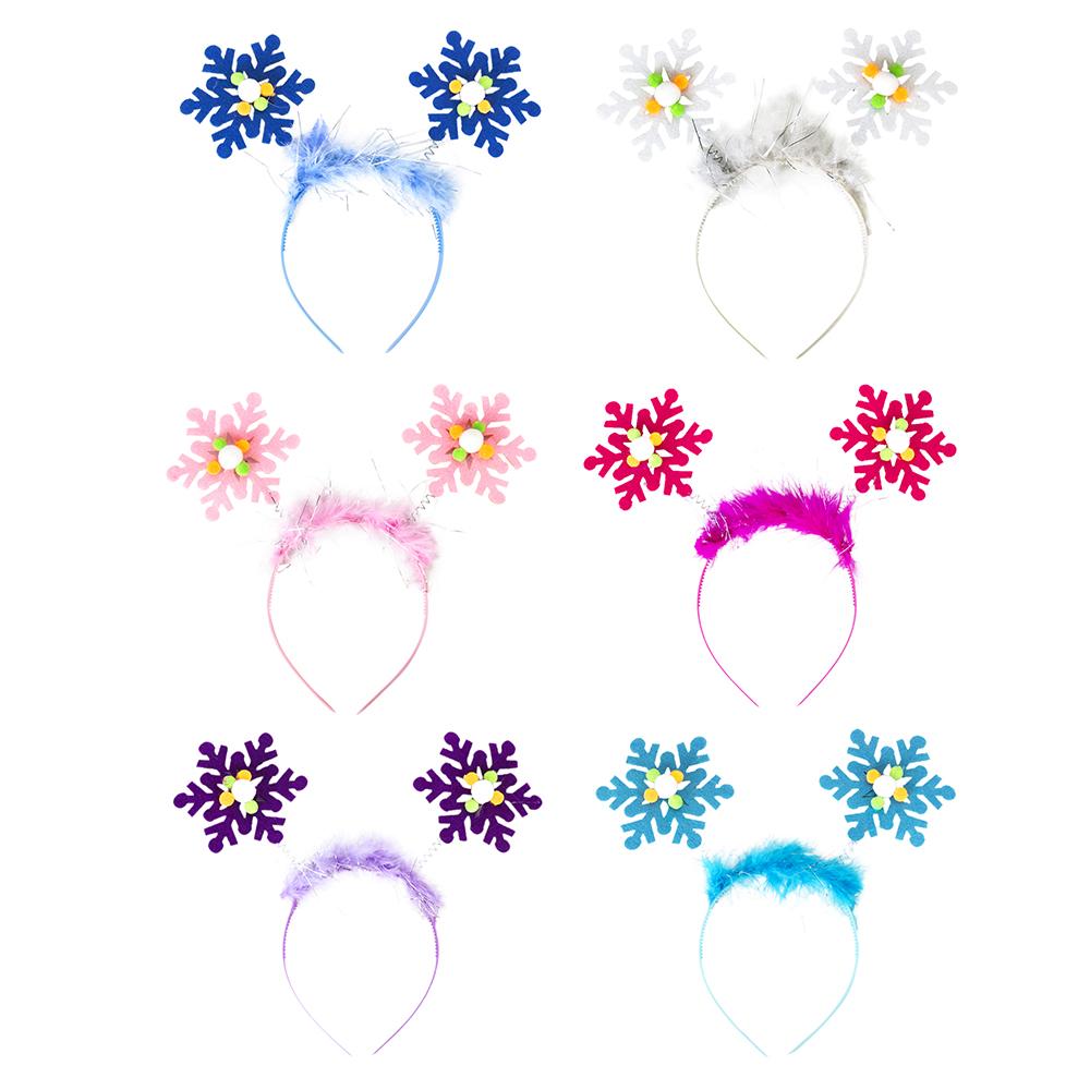 Ободок карнавальный, пластик, полиэстер, 21х18 см, 6 цветов, СНОУ БУМ