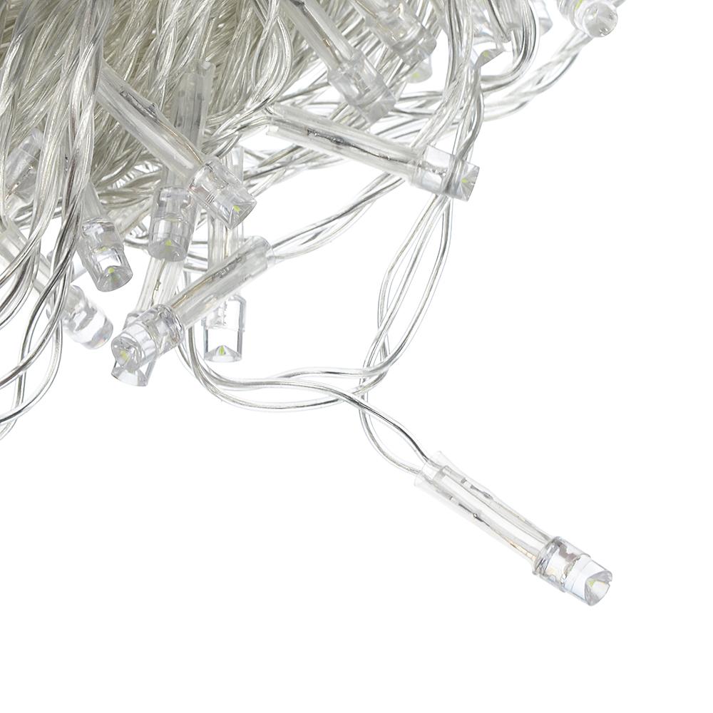 СНОУ БУМ Гирлянда электрическая вьюн 9м, 100LED, пурпурный, 8 реж, прозр. провод, 220В