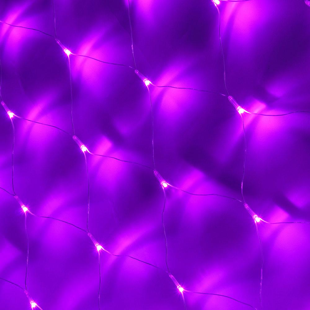 Гирлянда электрическая сетка СНОУ БУМ 1,6x1,6 м, фиолетовый, прозрачный провод, 220В