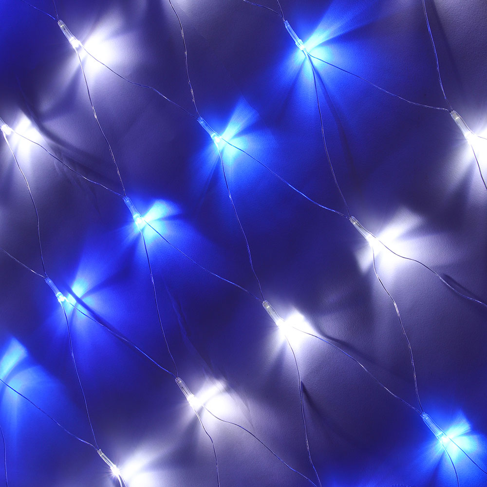 "Гирлянда электрическая сетка СНОУ БУМ 140 LED,1,6x1,6 м,мерцание 10led,""Звездное небо"",сине-белый"