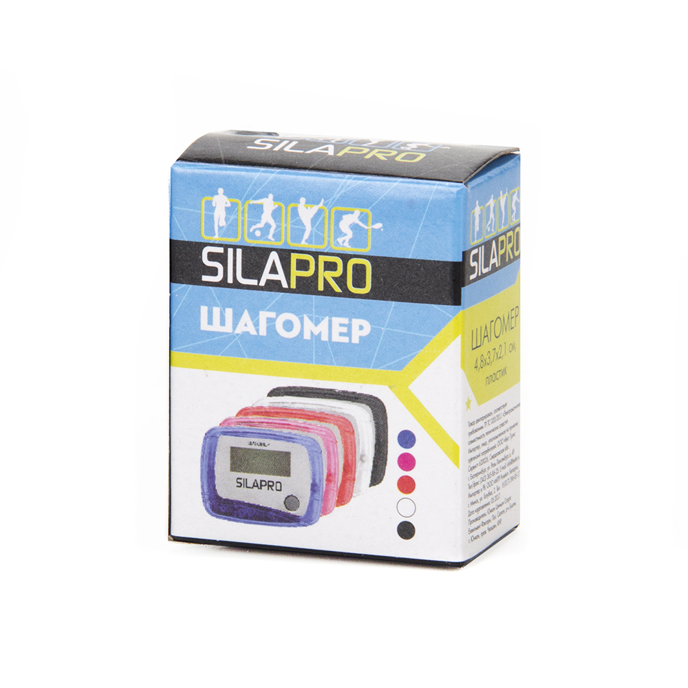 Шагомер, пластик, 4,8х3,7х2,1 см, SILAPRO