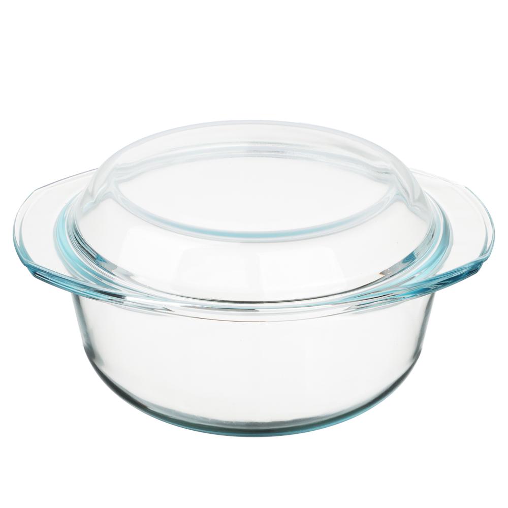Кастрюля жаропрочная с крышкой 2.5 л SATOSHI, стекло