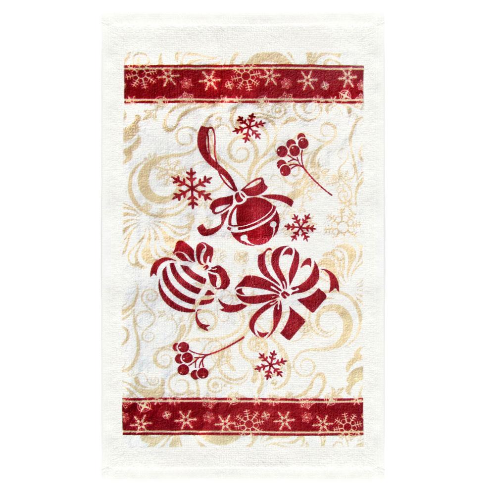 VETTA Красные шары Полотенце, хлопок, 38х63см, дизайн GC