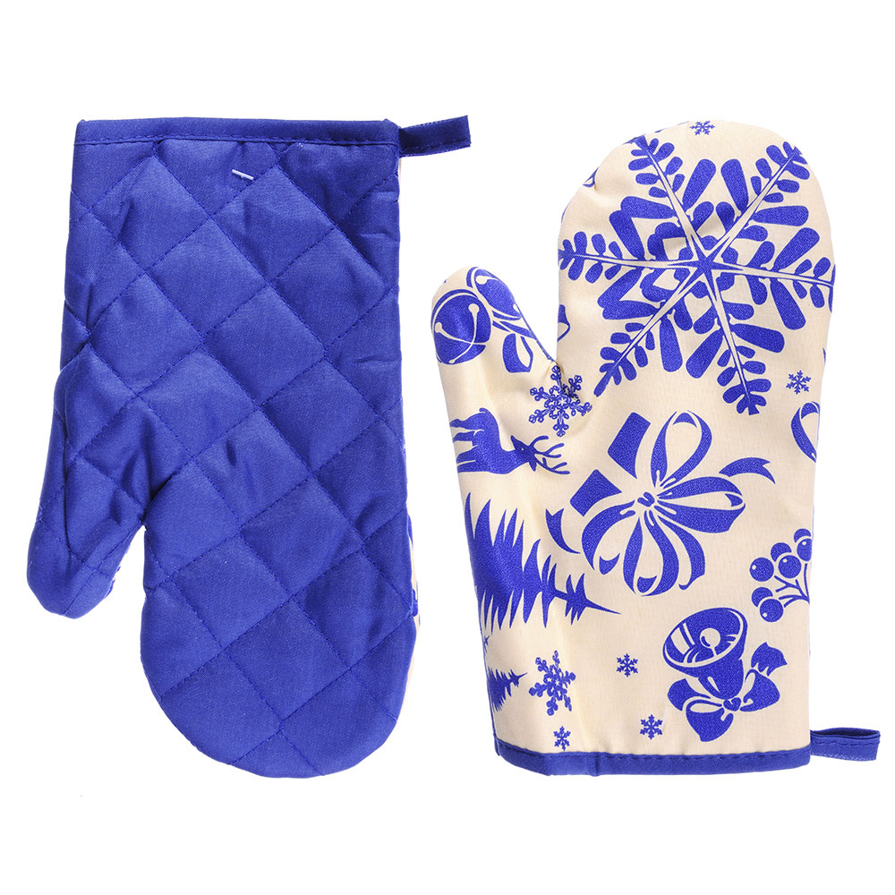 VETTA Снеговик синий Прихватка-варежка, полиэстер, 27см, дизайн GC