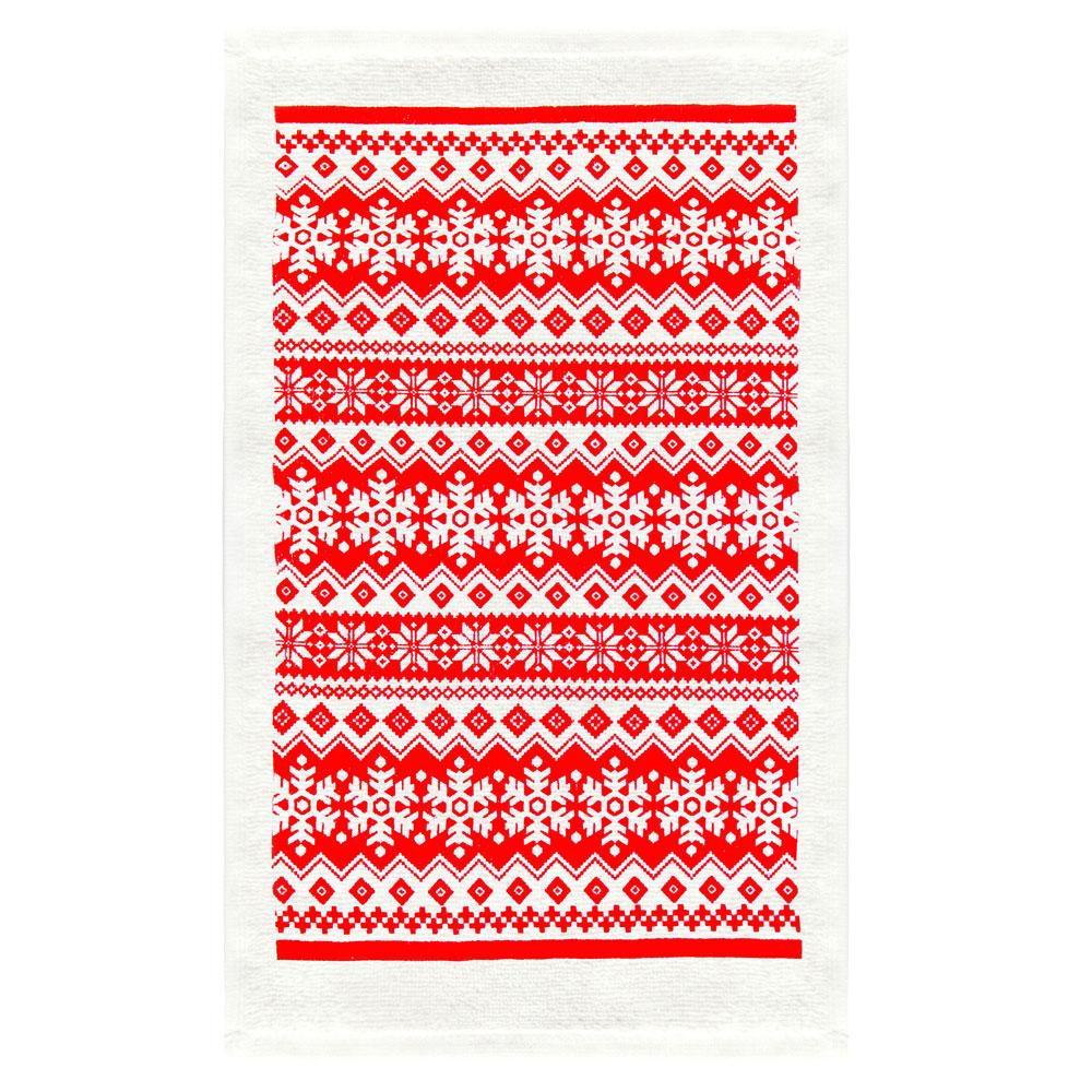 VETTA Снежинка красная Полотенце, 38х63см, хлопок, дизайн GC