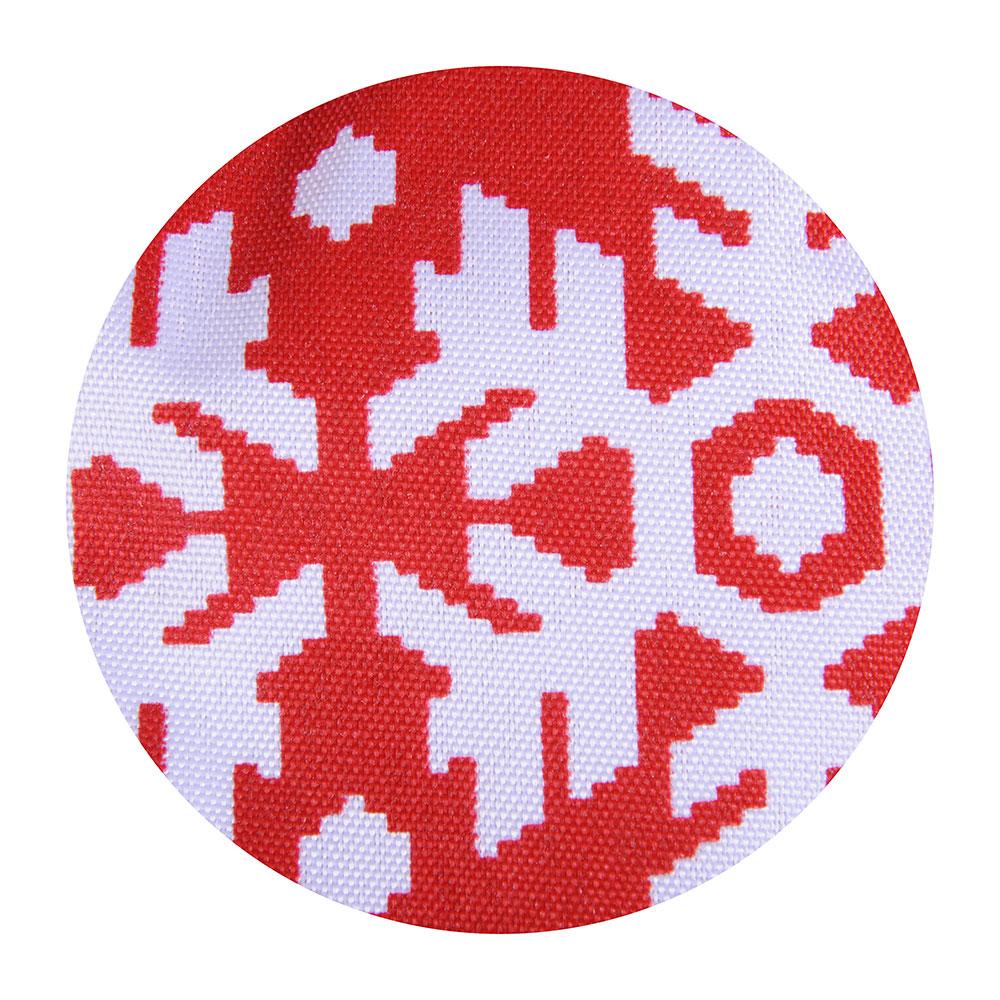 VETTA Снежинка красная Прихватка-варежка, полиэстер, 27см, дизайн GC