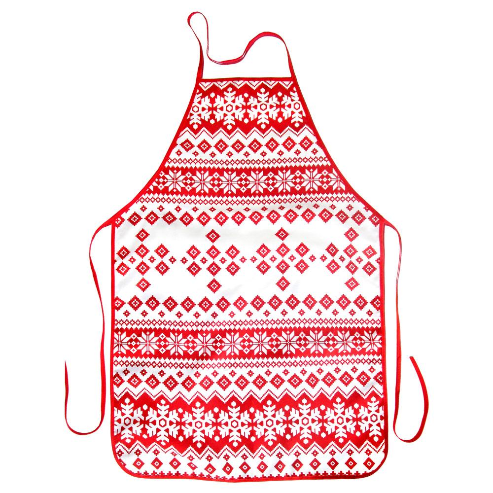 VETTA Снежинка красная Фартук, полиэстер, 51x76см, GC