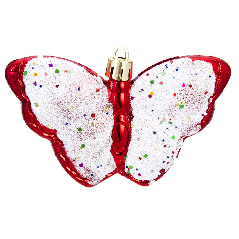 СНОУ БУМ Набор украшений 2шт, 10см, пластик, в виде бабочки