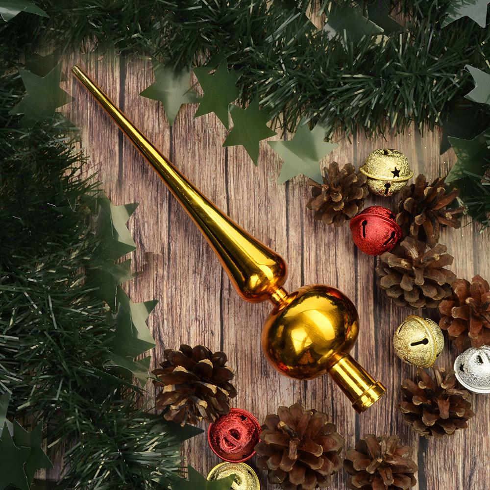 СНОУ БУМ Макушка на елку, 25см, пластик, 2 дизайна: золото, красный,AR2/66L1001A/ASST