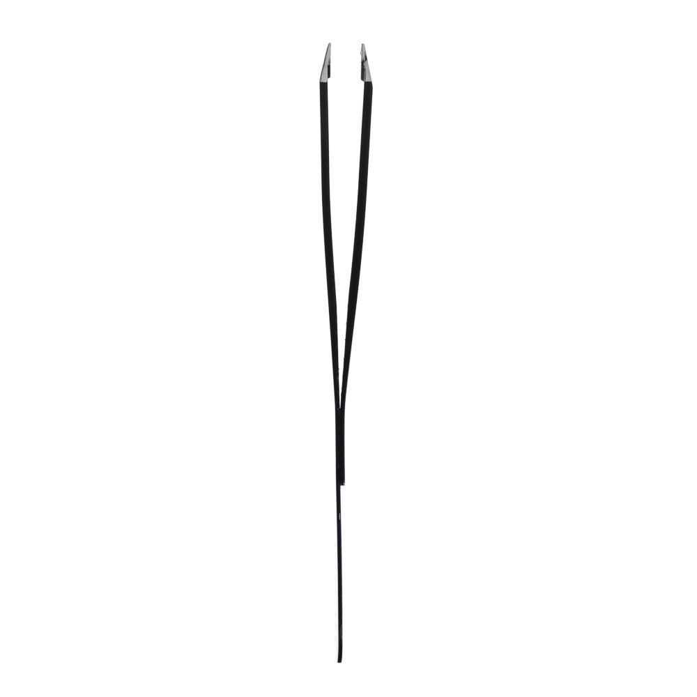 Пинцет с расческой для бровей/ресниц, металл, 10х1см, черный