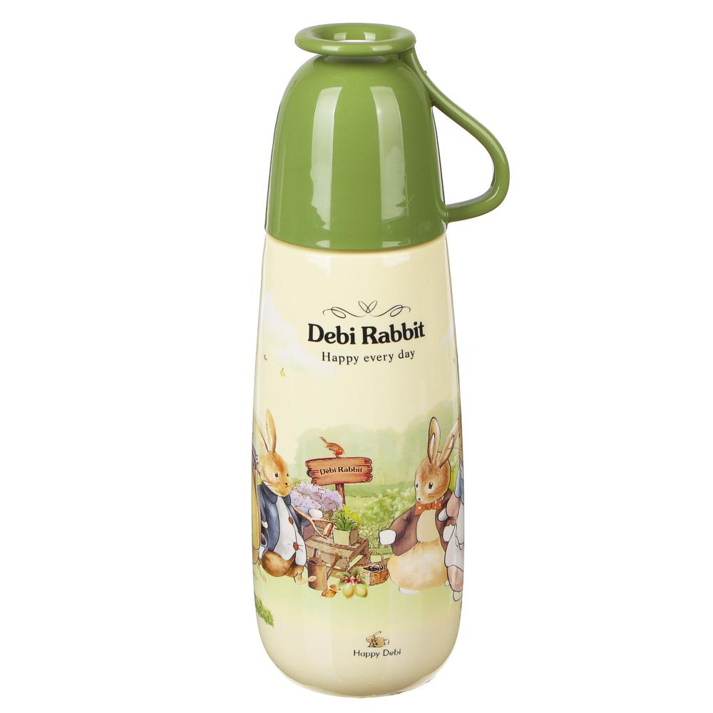 """Бутылочка с кружкой, пластик, 650 мл, """"Зайчата"""""""