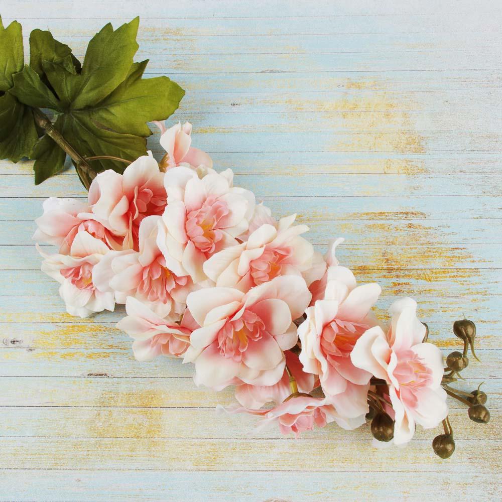 Цветок искусственный, ветка, 72-78см, пластик, полиэстер, 6 цветов