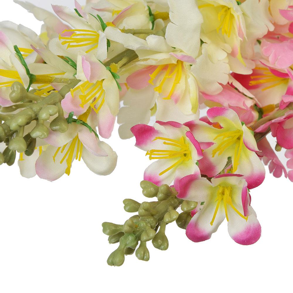 Цветок искусственный, ветка, 92см, пластик, полиэстер, 3 цвета