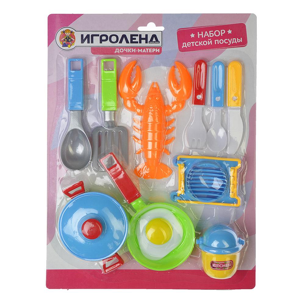 ИГРОЛЕНД Набор детской посуды, пластик, 2 дизайна, 200077733
