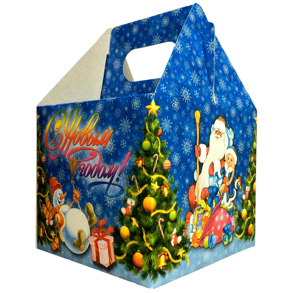 """СНОУ БУМ Коробка для конфет """"С Новым Годом!"""", 11х11х10см"""