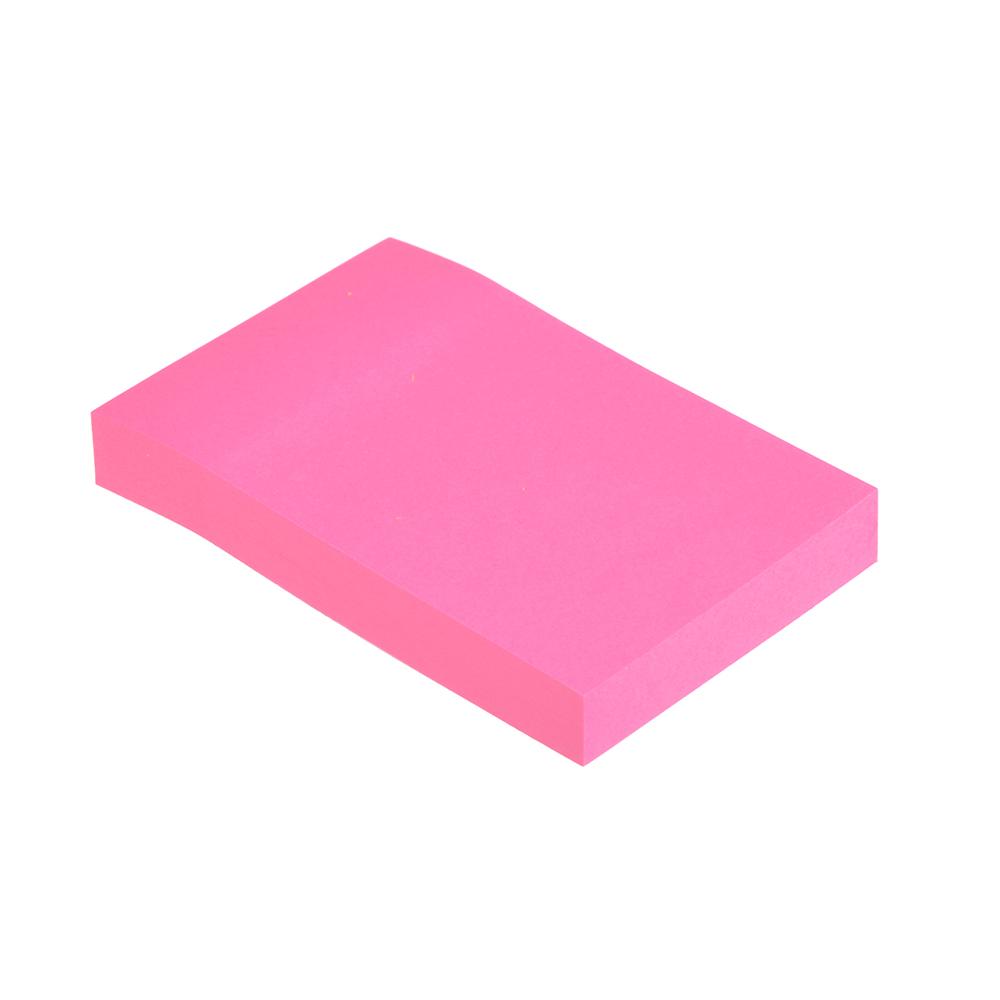 Блок для записей с клеевым краем неоновый, 51x76 мм, 100 листов,  4 цвета