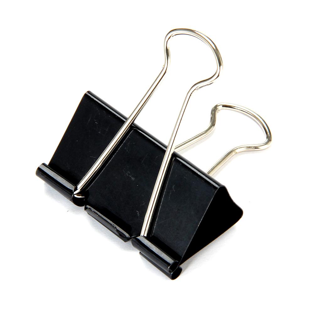 Набор зажимов для бумаг ClipStudio металлические 51 мм, 6 штук, цвет: черный