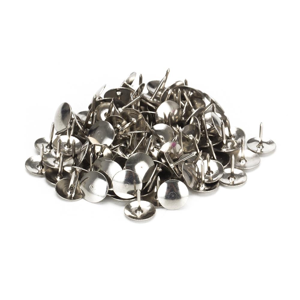 Кнопки канцелярские, металлические оцинкованные, 100 шт в картонной коробке