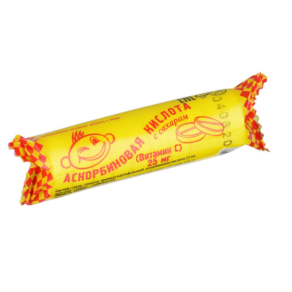 Аскорбиноваякислота с сахаром, таблетки 25 мг