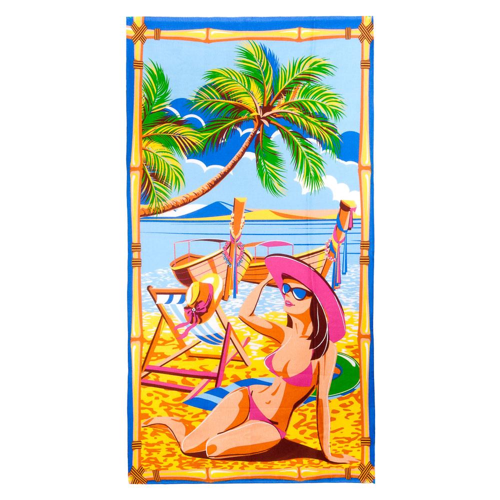 Полотенце пляжное вафельное, 80x150см