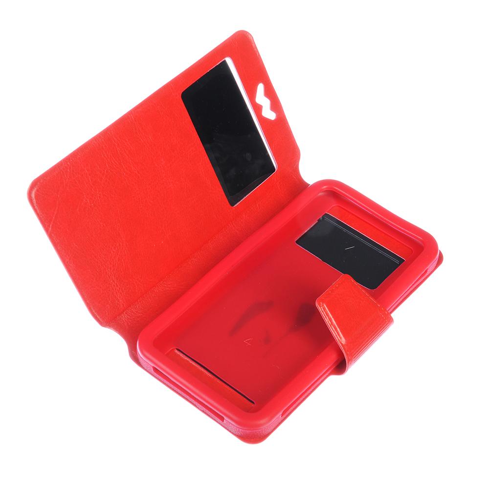 Чехол-книжка для телефона универсальный, ПВХ, силикон, 14,5х8х1,2см, 2-4 цвета