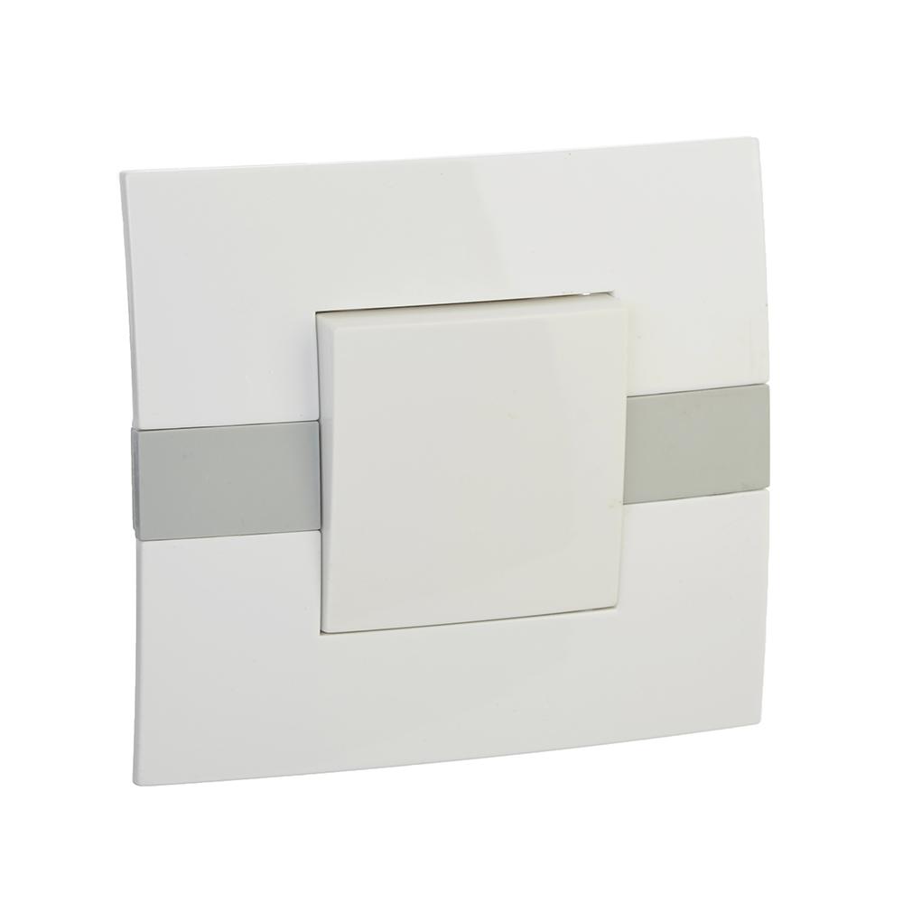 FORZA МОДЕРН Выключатель одноклавишный, цвет белый 10А 250В, пластик ABS