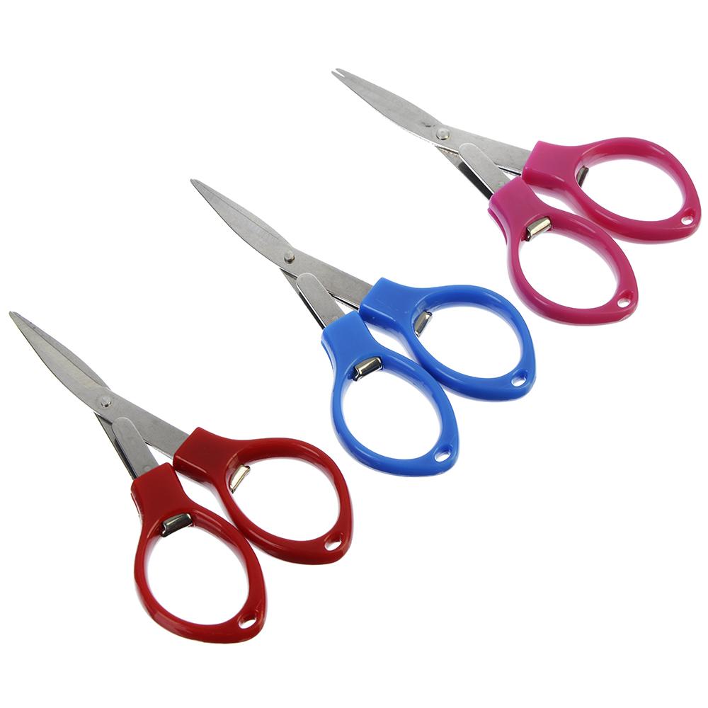 Ножницы маникюрные для ногтей, металл, пластик, 3 цвета, 8,8х2,5см
