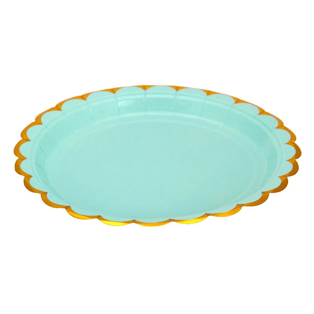 Праздничный 2 Набор бумажных тарелок 6шт, 18см, 4 цвета