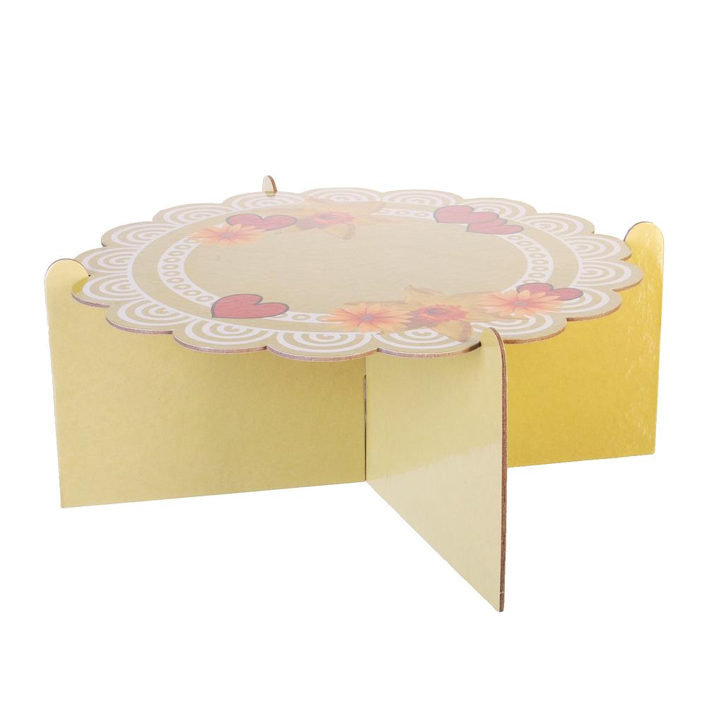 Подставка для пирожных, бумага, 12х26см