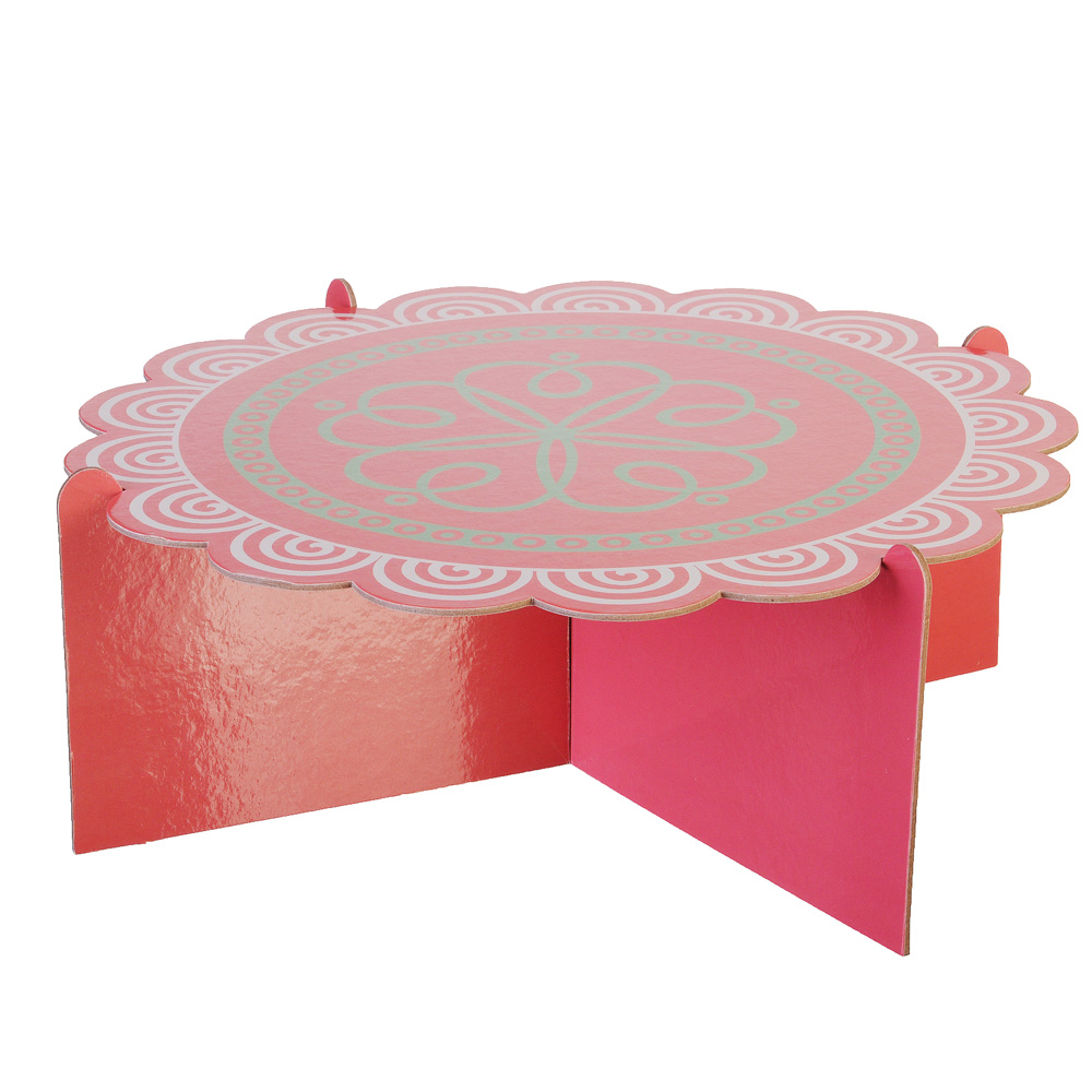 Подставка для пирожных, бумага, 12,5х32см