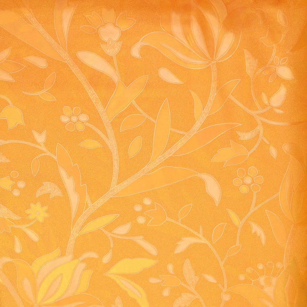 VETTA Шторка для ванной, винил, 180x180см, 12 колец, с рисунком, горчичный