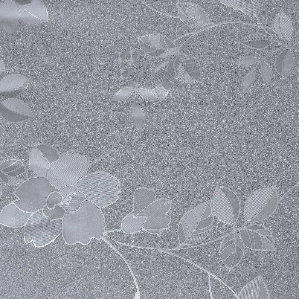 VETTA Шторка для ванной, винил, 180x180см, 12 колец, с рисунком цветов, серый