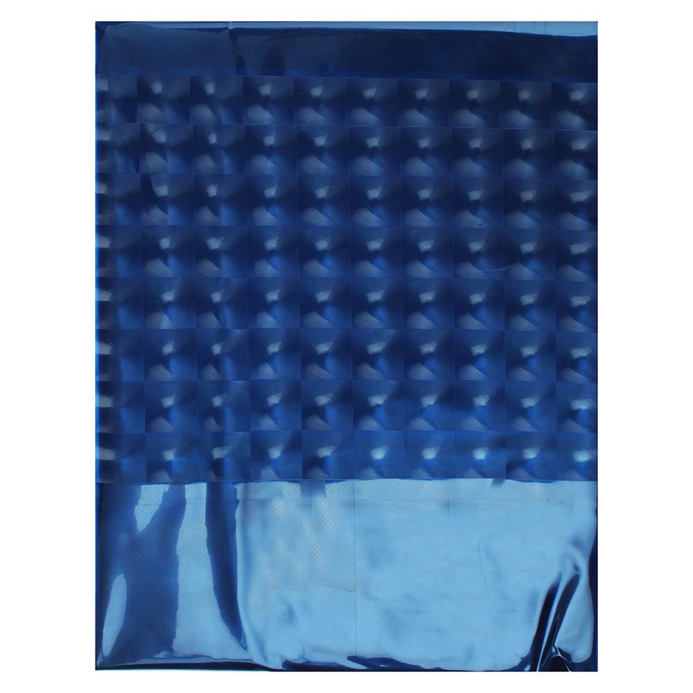 VETTA Шторка для ванной, винил, 180x180см, 12 колец, 3D, темно-синий