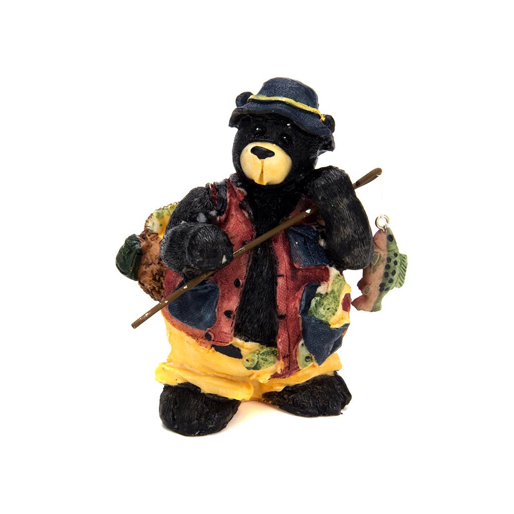 Статуэтка в виде медведя, полистоун, 13х8,5х6см, 4 дизайна, арт 1