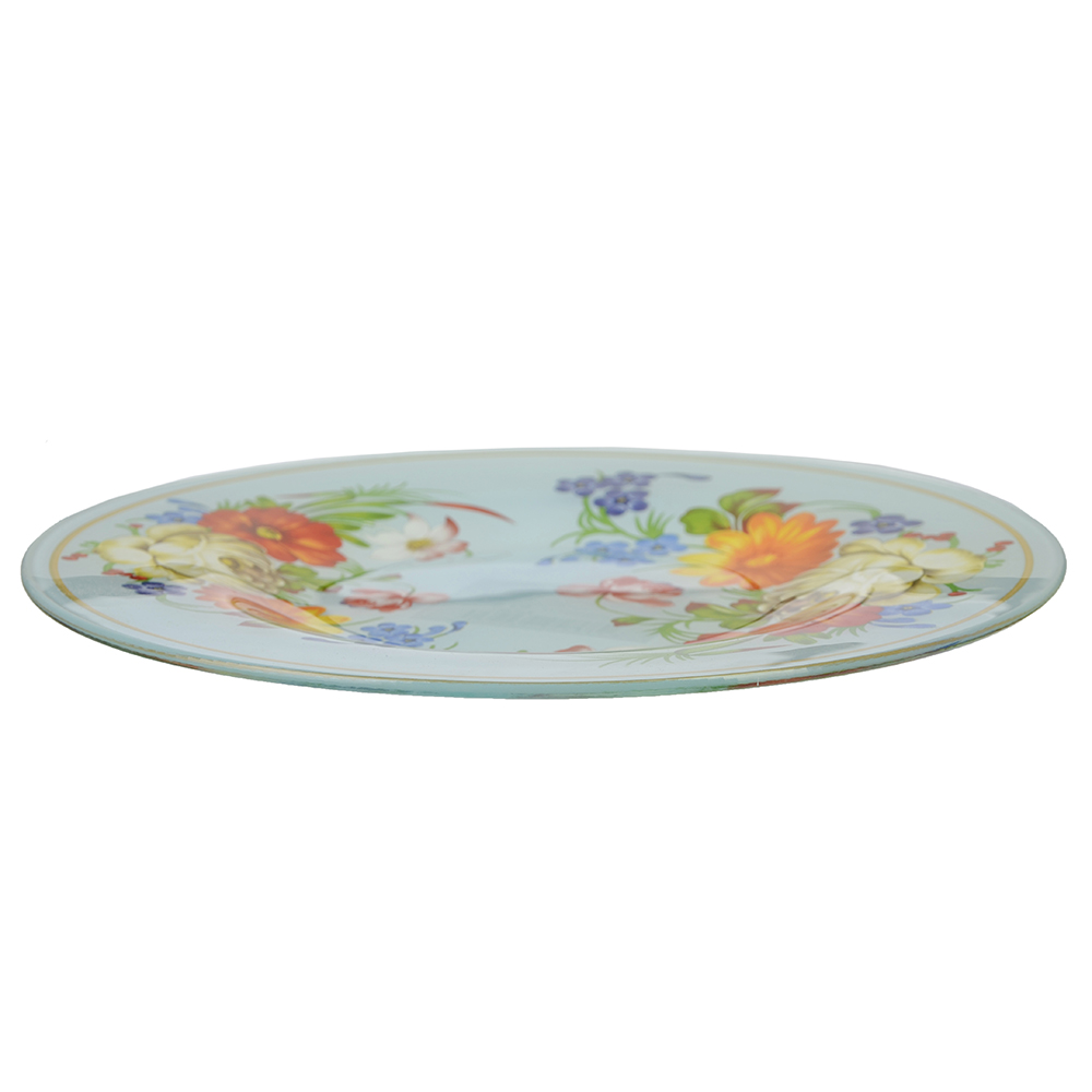 Народные мотивы Тарелка десертная стекло 200мм, S3008