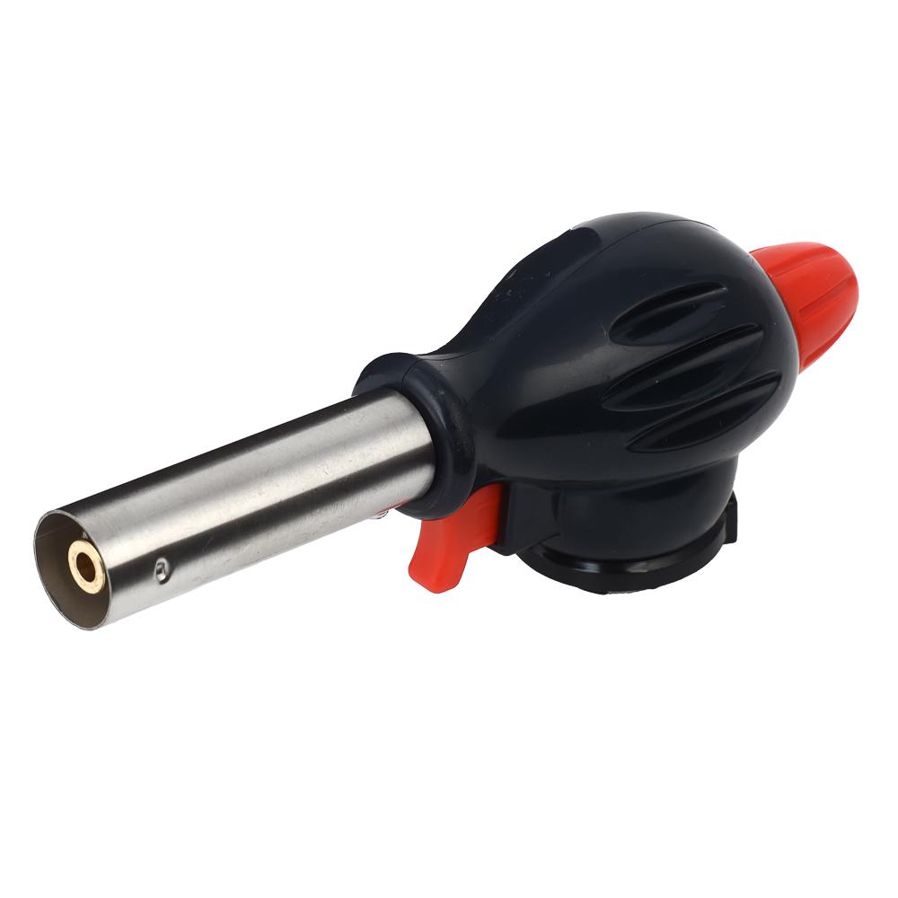 Горелка газовая ЧИНГИСХАН с пьезорозжигом, широкое cопло, ударопрочная; 17х6,6х5,1см