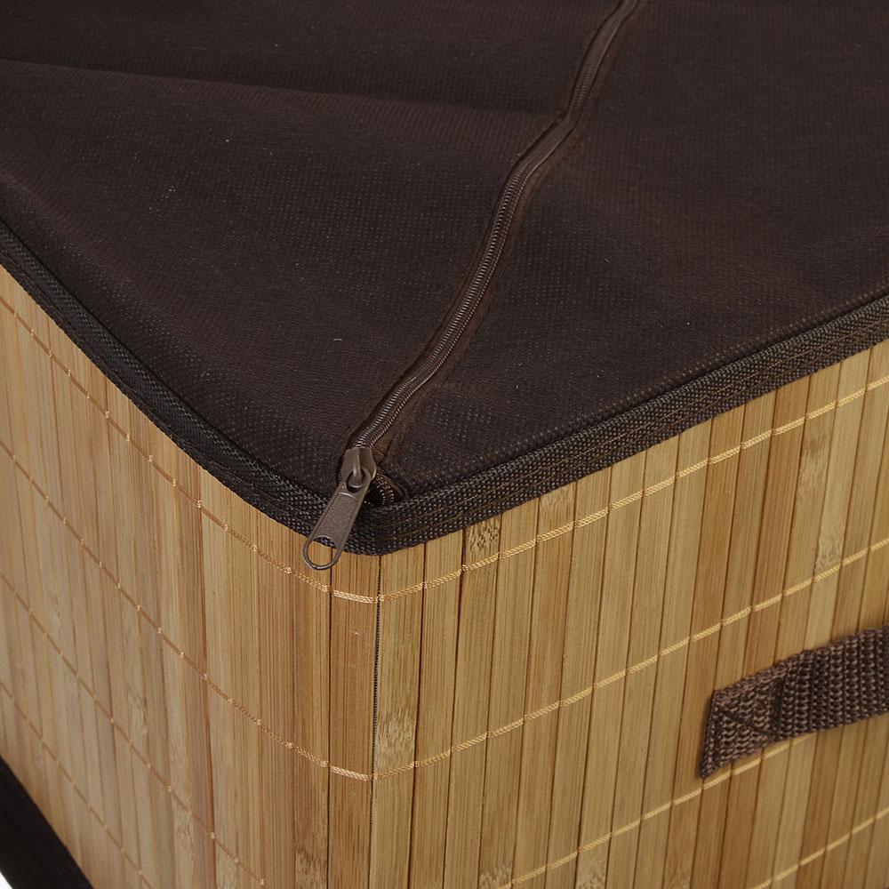 VETTA Коробка для хранения складная, бамбук, 35х25х22см